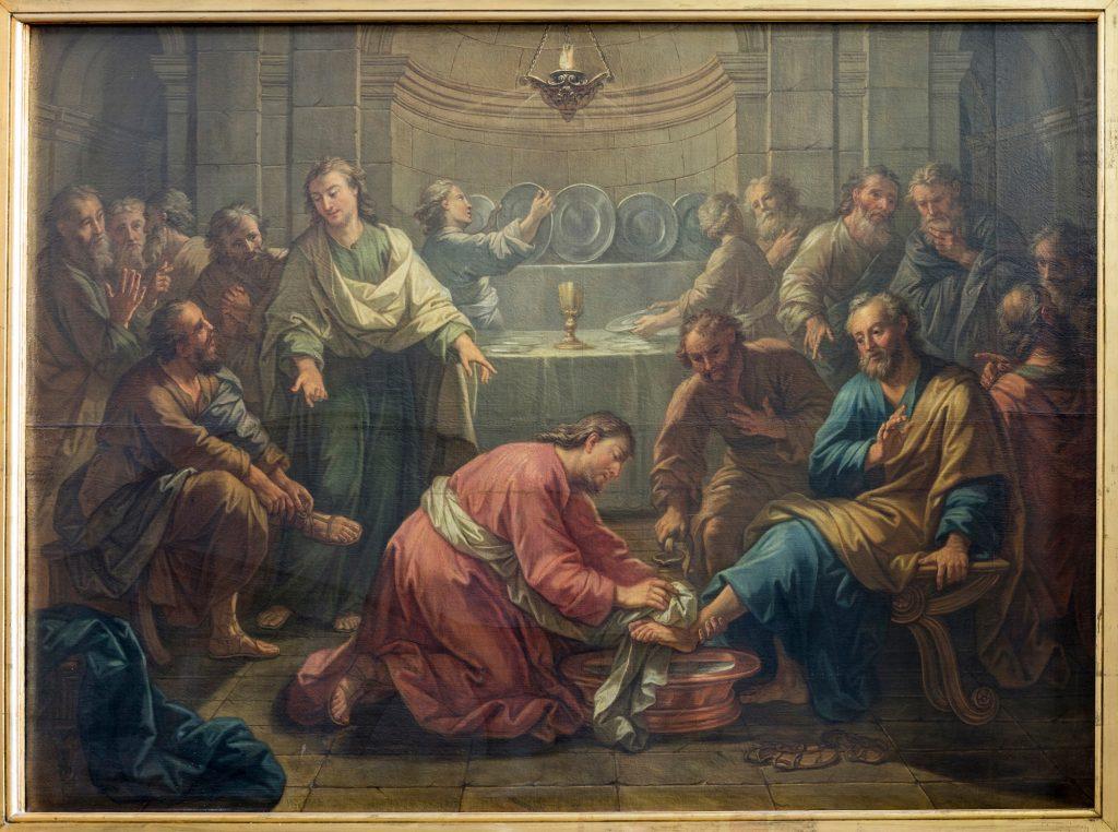 """Présentation du travail de restauration du tableau """"Le Lavement des pieds"""" (XVIIème siècle ?)"""