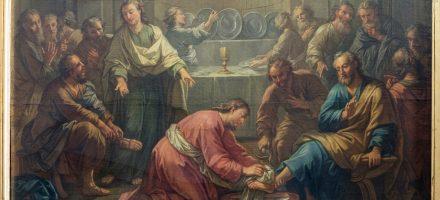 Présentation de la restauration du tableau «Le Lavement des pieds» (XVIIème ?)